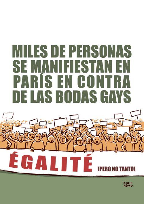 """""""Égalité"""" por Kike Benlloch y Pedro Villarejo"""